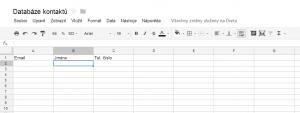databáze kontaktů