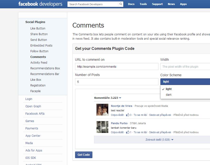 facebook komentáře