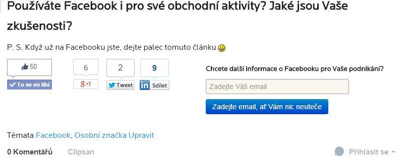 Kontaktní formulář v textu