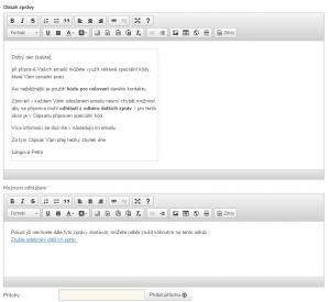 Náhled emailu v Clipsanu