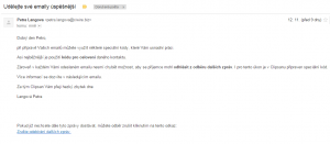Nahled emailu v emailu