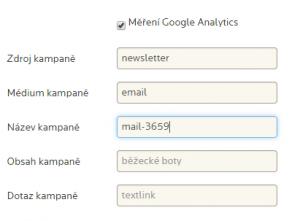 Vytvoření UTM parametru pro sledování konverzí