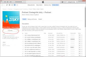 Přihlášení k odběru podcastu Strategické zisky