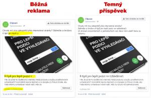 Rozdíl mezi běžnou reklamou a temným příspěvkem