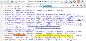 Kontrola HTML kódu na tag article:author
