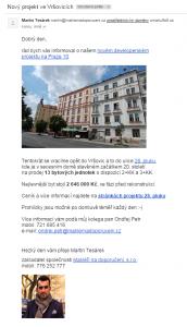 Náhled emailu společnosti Makléři na doporučení s.r.o.
