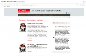 Email nakladatelství Kosmas
