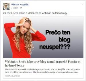 Pozvánka na blog na Facebooku