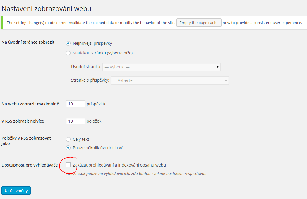 Zákaz prohledávání a indexování webu
