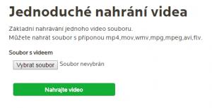 Jednoduché nahrávání videa