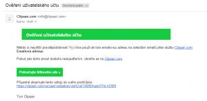 Ověření emailové adresy