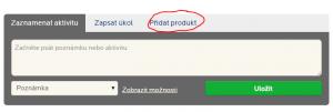 Přidání produktu