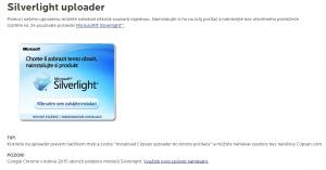 Nahrávání videa pomocí Silverlight uploaderu