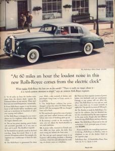 Direct Response reklama od Davida Ogilvyho na Rolls Royce