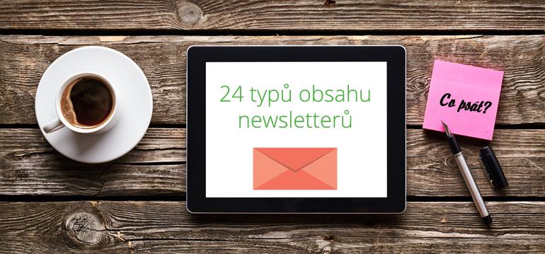 24 typů obsahu pro Vaše newslettery