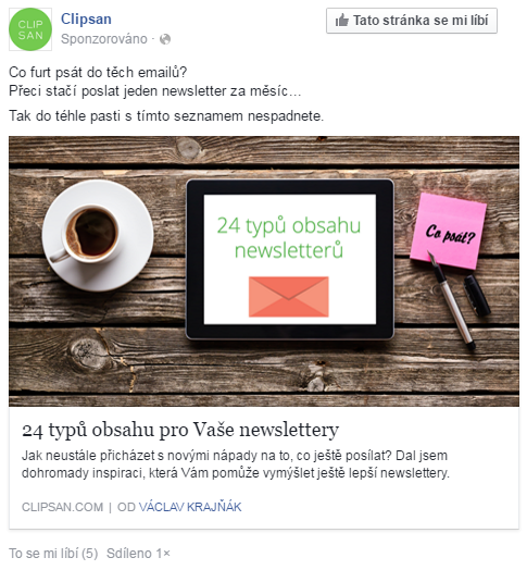 Reklama na Facebooku formou temného příspěvku
