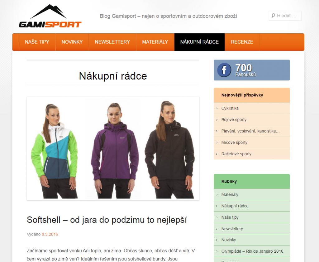 Nákupní rádce eshopu gamisport.cz