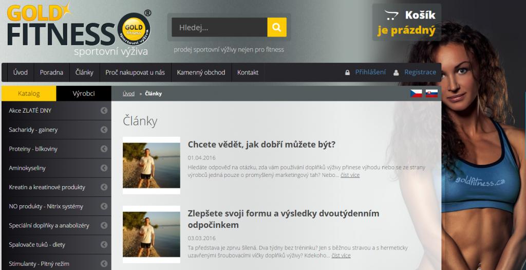 Blog na stránkách goldfitness.cz