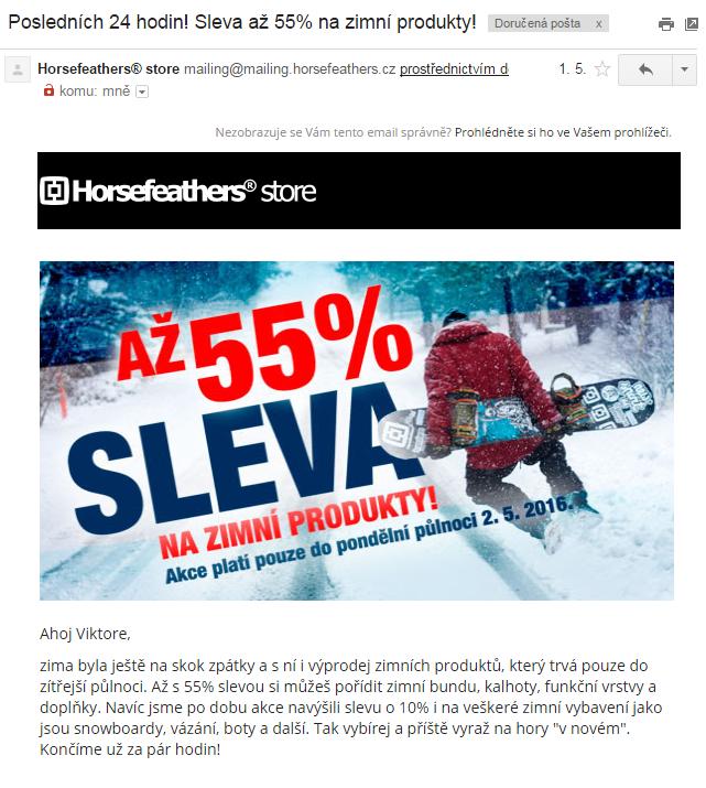 Urgence v emailu