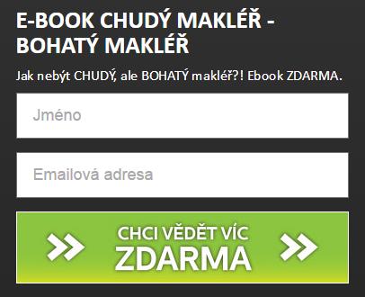 Ukázka jednoduchého formuláře na webu chytrymakler.cz
