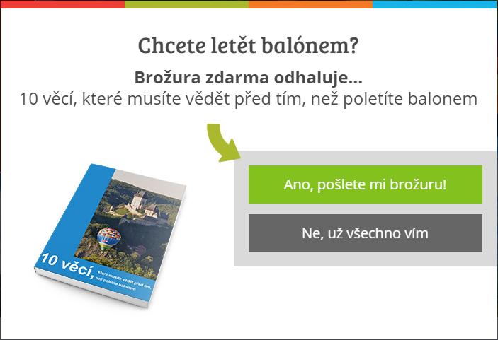 Magnet na zájemce na webu balony.cz