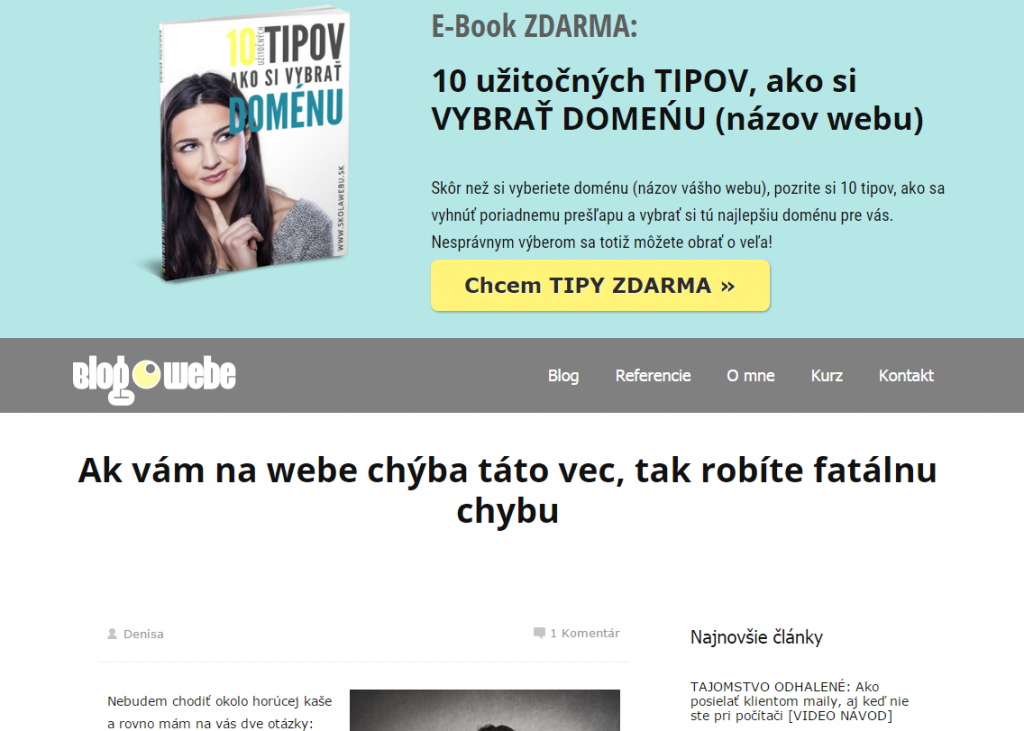 Feature box na web blogowebe.sk
