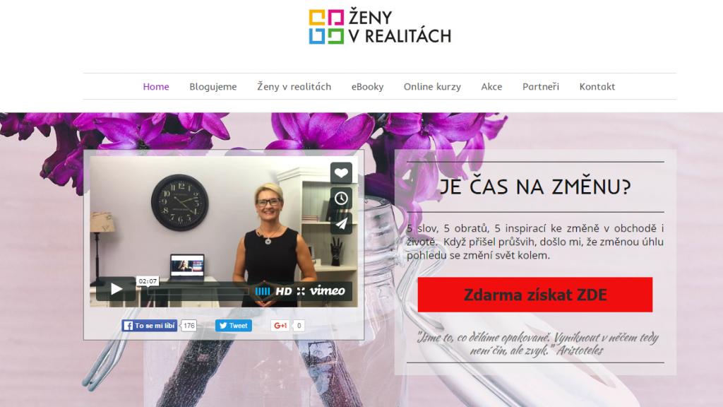 Ukázka tlačítka s výzvou k akci na webu zenyvrealitach.cz