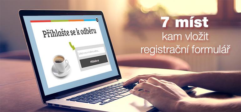 7 míst, kam vložit formulář na sběr kontaktů pro email marketing