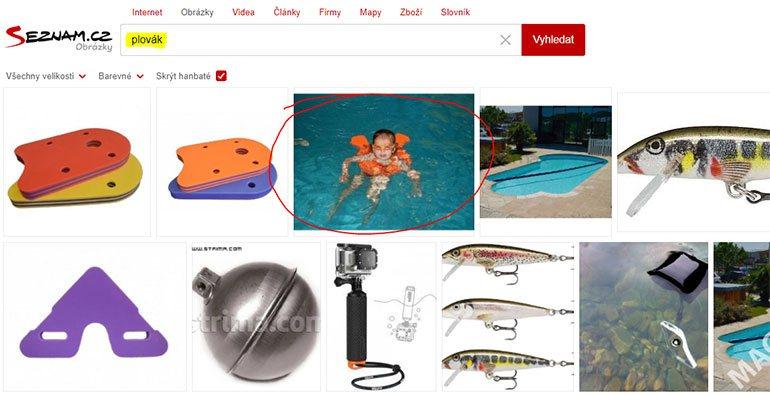 Vyhledávání v obrázcích na Seznamu