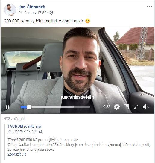 Video v příspěvku Honzy Štepánka