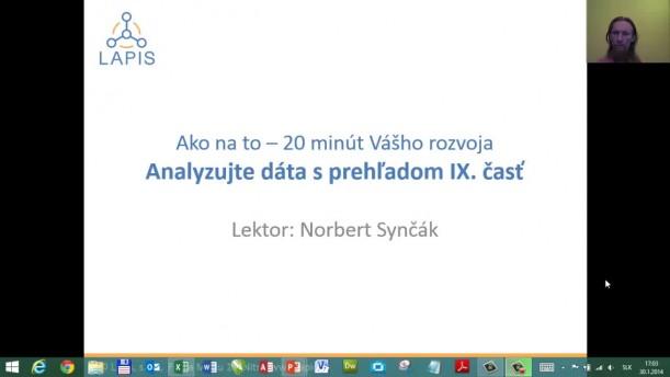 09 - Spracovanie importovaných dát, vyhľadávanie, overovanie hodnôt, tipy a triky