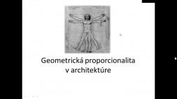 Geometrická proporcionalita v architektúre